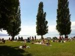 Playa verde de Lutry