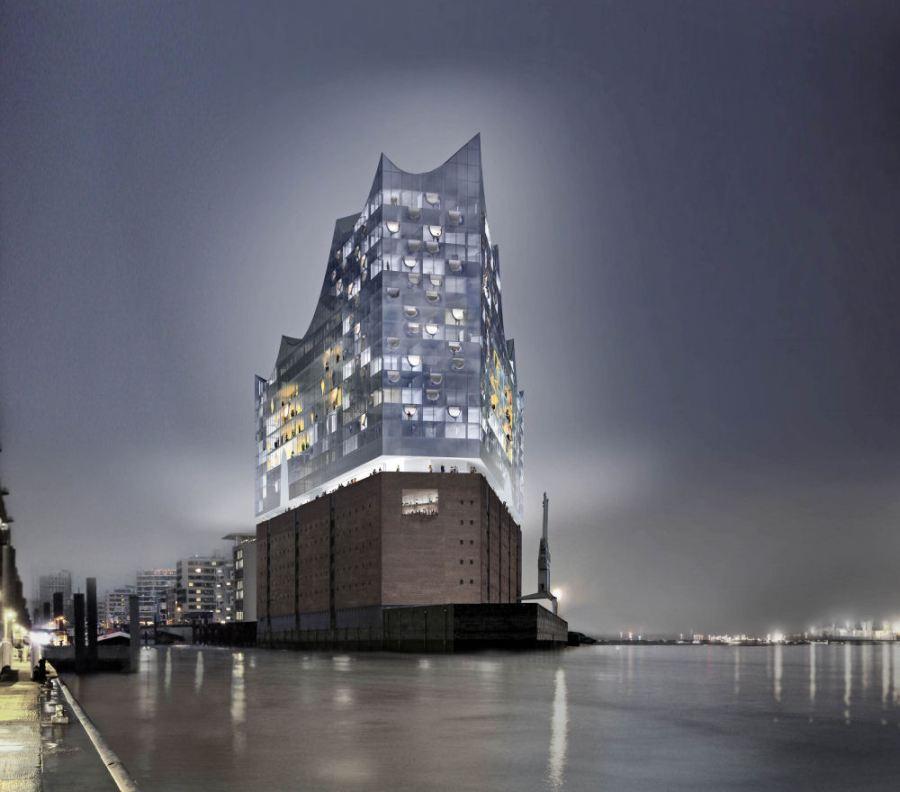 Recreacion sala de conciertos de Hamburgo