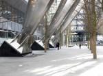 Arboles en la plaza del broadgate tower Londres