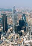 Pinacle building desde el aire, Londres
