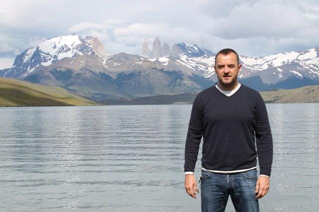 Jose Ferri en la Laguna Azul