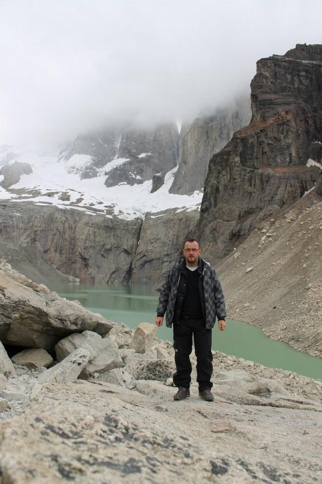 Jose Ferri en las Torres del Paine