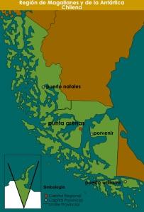 Mapa Region Magallanes