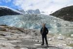 Jose Ferri en el glaciar Pia