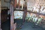 interior del barco varado